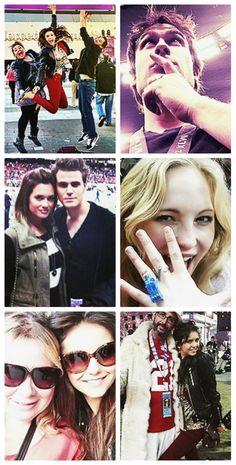 TVD Cast at Super Bowl | Feb 3, 2013 - Nina Dobrev, Ian Somerhalder, Torrey DeVitto, Paul Wesley, and Candice Accola