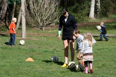 Players are shown basic ball control skills.