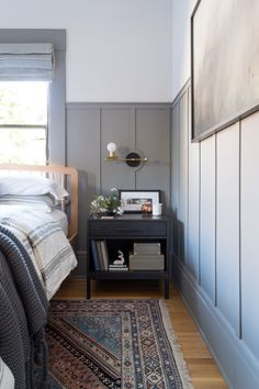 A craftsman bungalow master bedroom transformation with attention to architectural detail | The Gold Hive