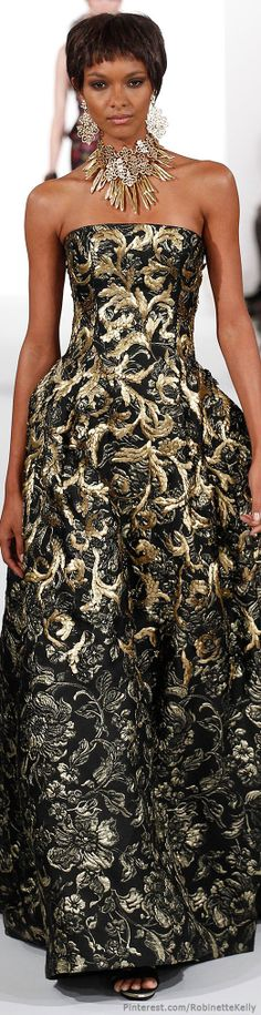 Oscar de la Renta ~ F/W 2014 - I like the bling!