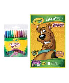 This Scooby-Doo Giant Coloring Book & Twistables Crayon Set is perfect! #zulilyfinds