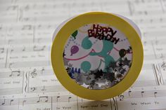just a note to say...: Card making: Birthday Shaker Card