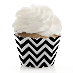 Chevron Black and White - Baby Shower Cupcake Wrappers $0.69
