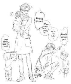 Shingeki no Kyojin (Attack on Titan) aww look at mikasa she would be so clingy to eren Imagine eren trying to send her to school then she walked home by herself because she wanted to see eren<<<< aww that is cute but pay attenTION TO THE ERERI IN THIS! Armin, Eren E Levi, Eren X Mikasa, Attack On Titan Comic, Attack On Titan Ships, Attack On Titan Fanart, Ereri, Levihan, Vocaloid