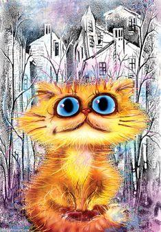 왕눈이 고양이들 귀엽네요. Boris Kasyanov의 작품입니다.