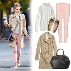 classic trench with colored jeans. The Lazy Girl's Guide to Looking Cute in a Hurry Cute Preppy Outfits, Preppy Style, My Style, Girl Fashion, Fashion Outfits, Fashion Styles, Dress Fashion, Estilo Preppy, Weekend Outfit