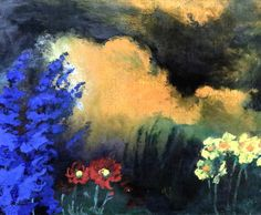 Emil Nolde, Flowers and Clouds on ArtStack #emil-nolde #art