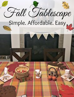 Fall Table Decor ide
