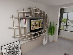 Modern 3d Shelf Unit for Your Living Room - http://www.amazinginteriordesign.com/modern-3d-shelf-unit-for-your-living-room/