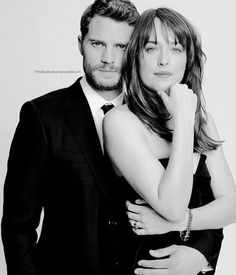 "Jamie Dornan and Dakota Johnson - ""Fifty Shades of Grey"" Shades Of Grey Film, Fifty Shades Movie, Fifty Shades Trilogy, Fifty Shades Darker, Couple Photoshoot Poses, Couple Photography Poses, Couple Posing, Jamie Dornan, Dulcie Dornan"