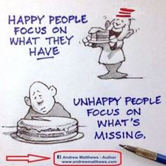 Happy Focus On What They Have, Unhappy People Focus On Whats Missing
