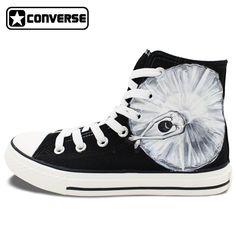 320647a8a46592 Original Design Black Converse Hand Painted Shoes Ballet Dancer High Top Men  Women Canvas Sneaker Birthday Christmas Gifts