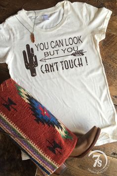 The Mesa – You can look but you can't touch cactus tee from Savannah Sevens Western Chic