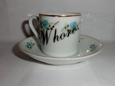 Whore Mini Espresso Teacup & Saucer