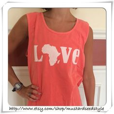 Coral Comfort Color Tank on Etsy, $30.00 @Olivia Howard made me think of you