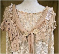 gorgeous cocoa colored lace top with lace scarf