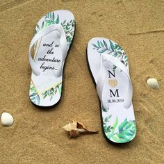 Just Married Pink Flip Flops Wedding Bride beach Diamante Crystals White Black