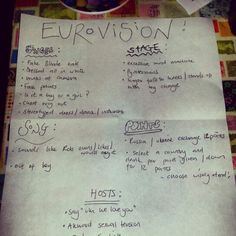 eurovision drinking game tumblr