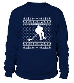 Ugly Hockey Xmas Sweater (Sweatshirt Unisex - Navy) ice hockey, mom baseball, youth ice hockey #hockeymomlife #love #thankful, christmas decorations, thanksgiving games for family fun, diy christmas decorations