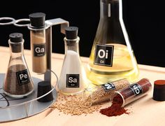 Chemist's Spice Rack For Kitchen Experiments