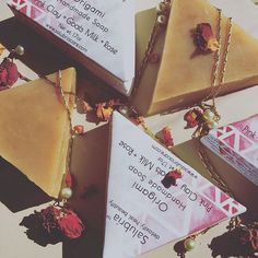 Origami Soap! Pink clay, goats milk and rose working together with luxury oils, to cleanse, balance and nourish, while pulling impurities from the skin. Great as a facial and shampoo bar! . . . . . . #detoxify #heal #beautify #salubriacare #salubriagram #natural #beauty #botanical #love #holistic #skin #hair #bath #pink #flower #love #nature #rose #soap #skincare #bodycare #shampoo #handmade #haircare #flowers  #pinknation #pinkworld #pinklover #pinkpower #pink🎀