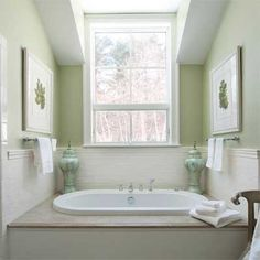 Cozy, light-filled nook for a master bath's soaking tub. | Photo: Michael Casey | thisoldhouse.com