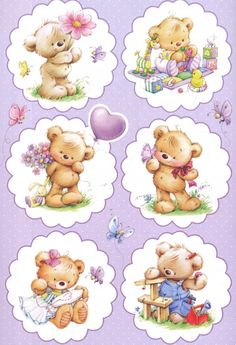 35 Best Ideas For Baby Cute Illustration Friends Tatty Teddy, Illustration Mignonne, Cute Illustration, Bear Pictures, Cute Pictures, Baby Animals, Cute Animals, Cute Teddy Bears, Decoupage Paper