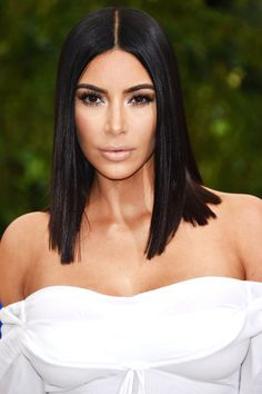 Kim Kardashian Met Gala 2017 Sleek Lob | InStyle.com
