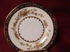 Minton China Bone #H3775 Dynasty Cobalt w/gold Encrusted Stunning! Salad plate