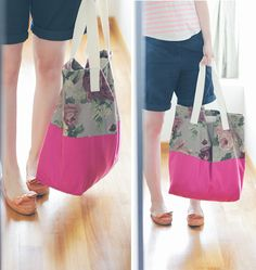 DIY: colorblock tote for summer