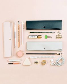 Not just for pencils. Shop the Minimalist Pencil Pouch in the link in our bio. Cool Stationary, Stationary Supplies, Stationary School, Cute Stationery, Stationary Items, Muji Pencil Case, Pencil Pouch, Deco Tumblr, School Suplies