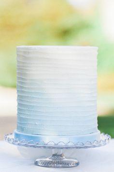 Delicate Fine Art Parisian Wedding Ideas Blue Ombre Cake http://www.bowtieandbellephotography.co.uk/