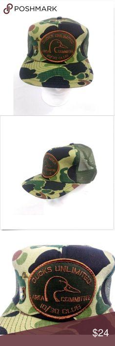 c8d402bbb02 Vintage Snapback Hat Cap Trucker Mesh Ducks Unlimi Vintage Snapback Hat Cap  Trucker Mesh Ducks Unlimited