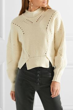 c64ad696bc81e Isabel Marant   Lane cropped ribbed cotton-blend sweater   NET-A-PORTER