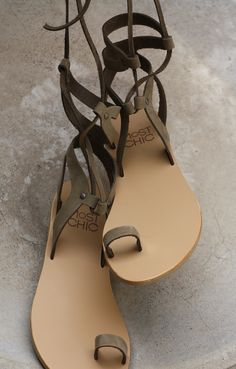 oxalis style sandals by Most-Chic #grecianstyle #leathersandals #gladiatorstyle