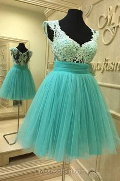 Green Prom Dresses, Tulle Formal Dresses, Cheap Evening Dresses, Short Homecoming Dresses, Princess Party Dresses