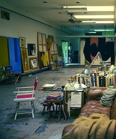 Robert Motherwell's studio and home. Architecural Digest (1984) Originally posted by artistandstudio