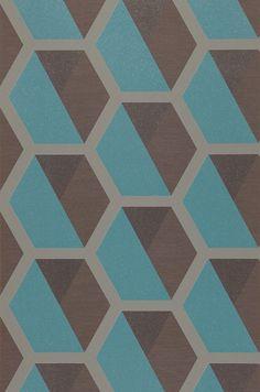 Hirolanit | Papel de parede geométrico | Padrões de papel de parede | Papel de parede dos anos 70