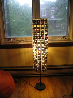 Slides floor lamp #Lamp, #Slides, #Upcycled