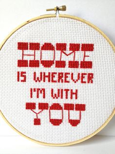 Edward Sharpe Embroidered Quote  by Gracey May
