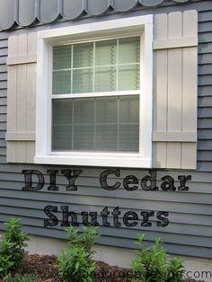 1000 Ideas About Cedar Shutters On Pinterest Shutters Exterior Shutters A