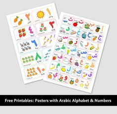 Free printables - posters arabic alphabet and Numbers
