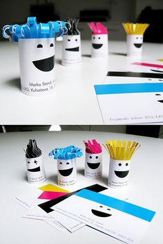 Turn your business card into something the customer can make... great idea depending on what it is you do