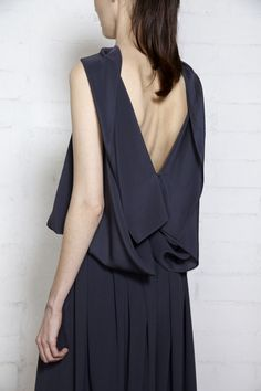 silk open back top | dusan via des kohan.