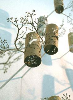 Toilet roll art by Yuken Teruya http://www.yukenteruyastudio.com/index.html