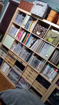 Ikea Kallax, Magazine Rack, Scrapbooking, Storage, Crafts, Furniture, Home Decor, Purse Storage, Manualidades