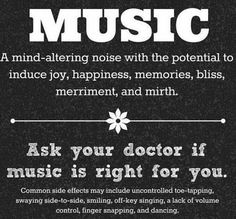 Faith, love, music and laughter have the power to cure all ailments!