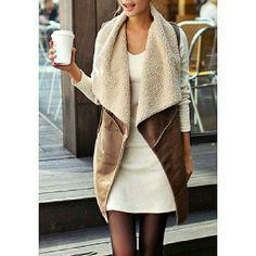 Cozzy Waist Coat Very Cozzy Faux Fur Sleeveless Waist Coat For Women (One Size xs-m) SDDB Jackets & Coats