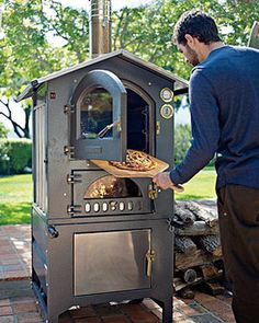 Fontana Gusto Wood-Fired Outdoor Oven - www.remodelworks.com #outdoor #over #grill