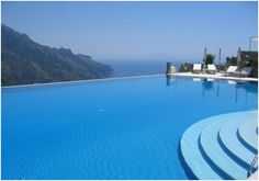 The lovely Infinity Pool on the Amalfi Coast is one of the most beautiful pools in the world and shows a unique panorama for the world. (Hotel Caruso)